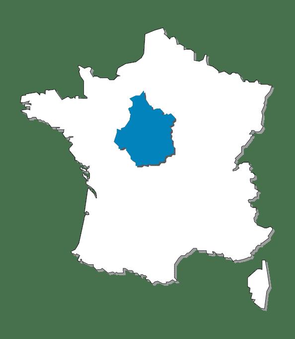 CARTE FRANCE CENTRE VAL DE L OIRE