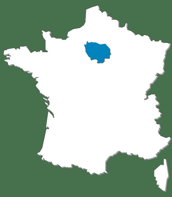CARTE FRANCE ILE DE FRANCE