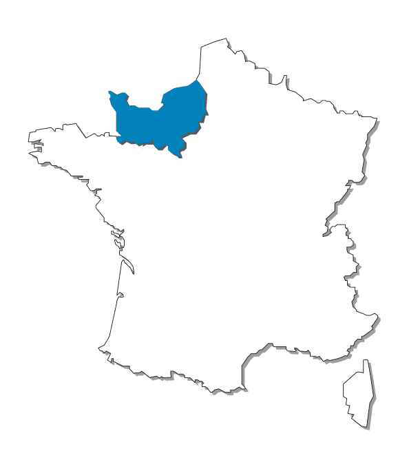 CARTE FRANCE NORMANDIE